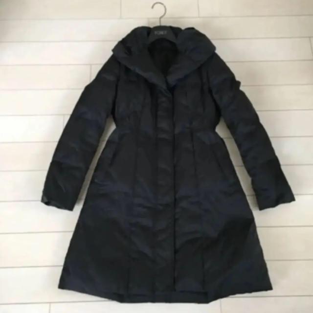 ANAYI(アナイ)のANAYI ロングダウンコート /36  黒 ブラック 美品 レディースのジャケット/アウター(ダウンコート)の商品写真