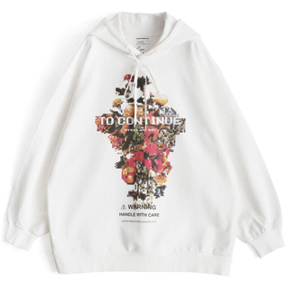 シャリーフ(SHAREEF)のSHAREEF 19AW DOT FLOWER' BIG HOODIE サイズ2(パーカー)