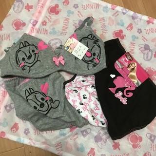 バービー(Barbie)のチップとデール ブラとパンツ と バービー パンツ2枚のセット(下着)
