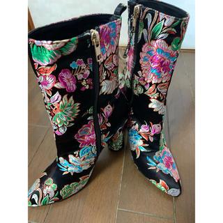 イエローブーツ(Yellow boots)のYELLO✴︎チャイナ柄ブーツ(ブーツ)