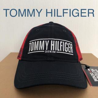 トミーヒルフィガー(TOMMY HILFIGER)のトミーヒルフィガー キャップ ハワイ チェック ワンサイズ ユニセックス 紺(キャップ)