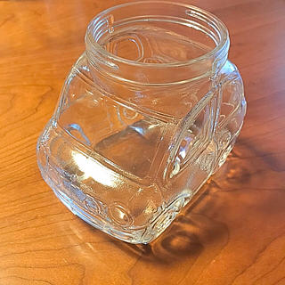 週末特価! 車の形をした昭和レトロなガラス容器(小物入れ)