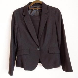 シマムラ(しまむら)の黒 ストライプスーツ 3点セット(スーツ)