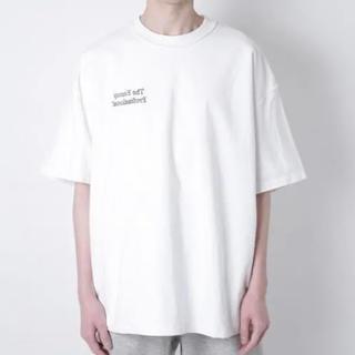 イズネス(is-ness)のイズネス ENNOY スタイリスト私物 裏返し2枚重ねTシャツ (WHITE)(Tシャツ/カットソー(半袖/袖なし))