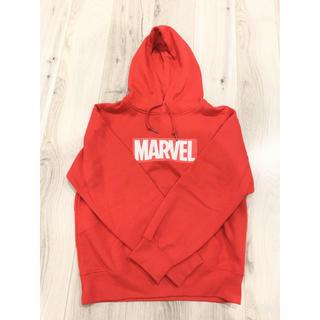 マーベル(MARVEL)のパーカー 赤 MARVEL マーベル L レディース(パーカー)