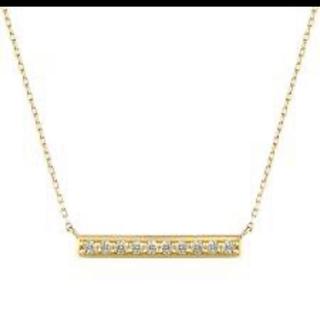 ヨンドシー(4℃)の美品 4℃ k18YG ダイヤモンドネックレス(ネックレス)