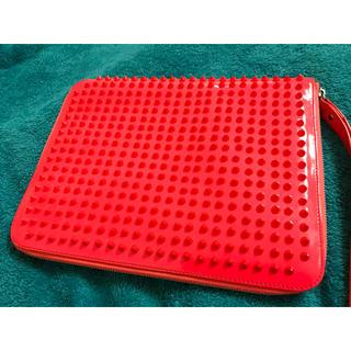クリスチャンルブタン(Christian Louboutin)のクリスチャンルブタン クラッチバッグ iPad ケース 蛍光色 ネオンカラー(セカンドバッグ/クラッチバッグ)
