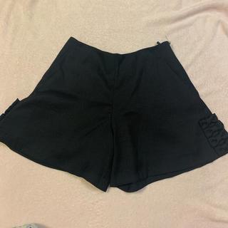 クチュールブローチ(Couture Brooch)のショートパンツ 黒 クチュールブローチ リボン(ショートパンツ)