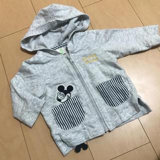 ディズニー(Disney)のディズニー 子供服 ベビー服 パーカー アウター ミッキー 70(ジャケット/コート)