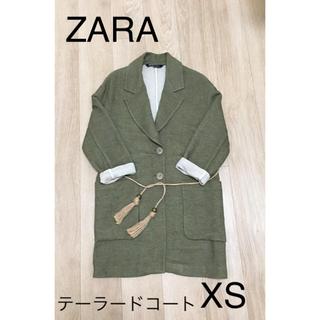 ザラ(ZARA)のZARA テーラードコート グリーン XS(チェスターコート)