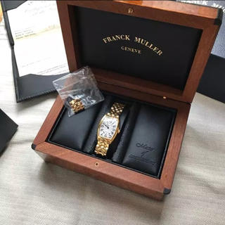 フランクミュラー(FRANCK MULLER)のフランクミュラー イエローゴールドベルト 時計 トノーカーベックス(腕時計)