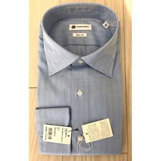 カミチャニスタ(CAMICIANISTA)の新品 カミチャニスタ CAMICIANISTA シャツ 39 ヘリンボーン 青(シャツ)