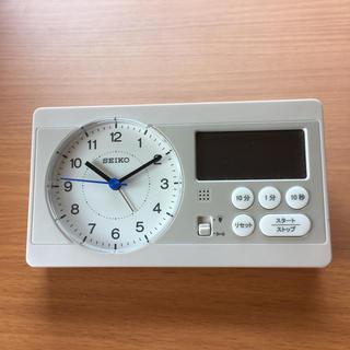 セイコー(SEIKO)のセイコー SEIKO 目覚まし時計 白パール KR893W (置時計)