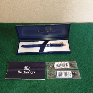 バーバリー(BURBERRY)のバーバリーのボールペン 黒、赤、青色替え芯付き ‼️(ペン/マーカー)
