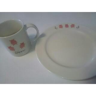 【新品未使用】カレルチャペック 三匹の子ぶた マグカップ&お皿セット(食器)