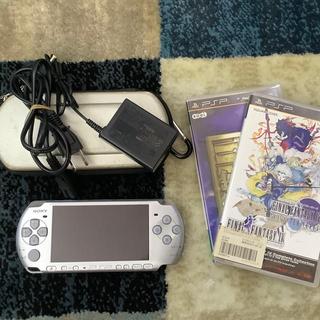 プレイステーション(PlayStation)のPSP-3000 シルバー ソフト付き(携帯用ゲーム機本体)