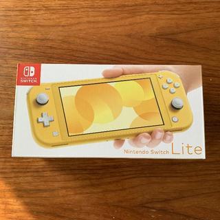 ニンテンドースイッチ(Nintendo Switch)の【新品】Nintendo Switch Lite イエロー 店舗印なし(家庭用ゲーム機本体)