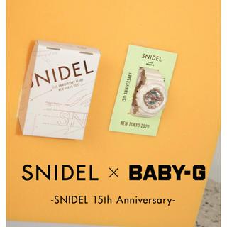 スナイデル(snidel)の「SNIDEL」「BABY-G」のコラボ時計(腕時計)