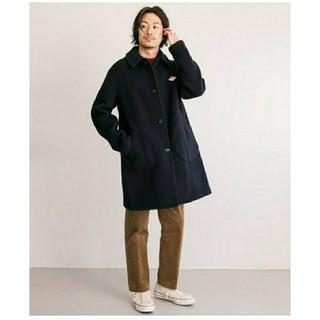 ダントン(DANTON)のDANTON wool coat ネイビー38サイズ(ロングコート)