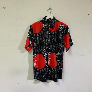 ファンキーフルーツ(FUNKY FRUIT)の漢字&日の丸 プリント半袖シャツ(シャツ/ブラウス(半袖/袖なし))