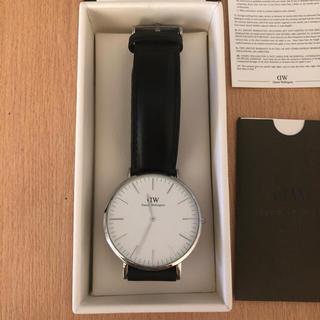 ダニエルウェリントン(Daniel Wellington)のダニエルウェリントン 腕時計 シルバー 黒(腕時計(アナログ))