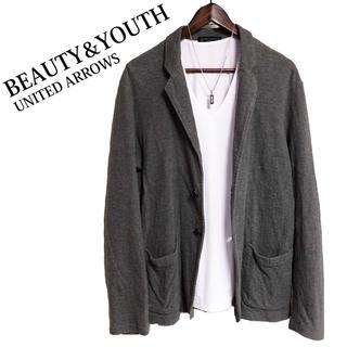 BEAUTY&YOUTH UNITED ARROWS - BEAUTY&YOUTH UNITED ARROWS テーラードジャケットグレー