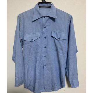 ザリアルマッコイズ(THE REAL McCOY'S)の70s 80s シャンブレーシャツ  古着 ビンテージ シャツ 長袖シャツ(シャツ)