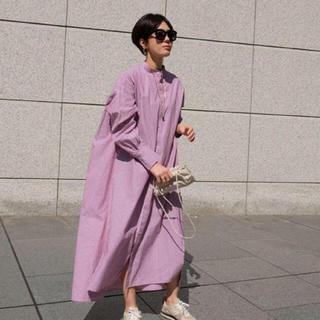 新品 machatt マチャット ストライプシャツドレス レッド(シャツ/ブラウス(長袖/七分))