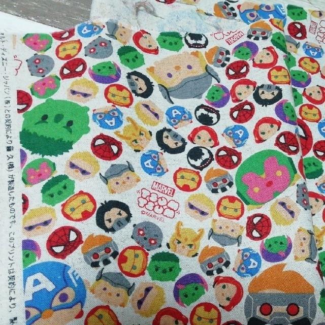 MARVEL(マーベル)のMARVEL ワッペン ツムツム柄生地セット ハンドメイドの素材/材料(生地/糸)の商品写真