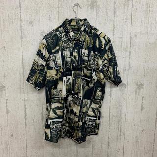 ファンキーフルーツ(FUNKY FRUIT)のレトログラフィック総柄 半袖シャツ(シャツ/ブラウス(半袖/袖なし))