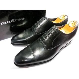 【新品】マドラス ストレートチップ 革靴 9 黒スト 冠婚葬祭