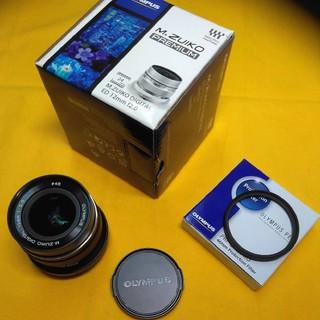 オリンパス(OLYMPUS)のOLYMPUS ED 12mm F2.0 ブラック (保護フィルターおまけ)(レンズ(単焦点))