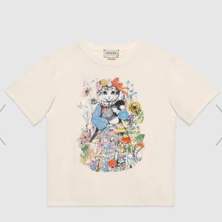 グッチ(Gucci)の完売品 GUCCI × ヒグチユウコ ■ Tシャツ 猫 文鳥 ■ 白 S〜M (Tシャツ/カットソー)