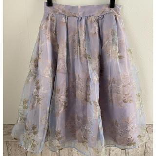 ダズリン(dazzlin)のdazzlinオーガンスカート(ひざ丈スカート)