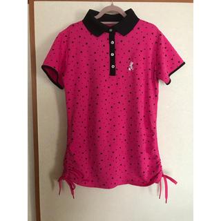 ディズニー(Disney)のミッキー ディズニー ポロシャツ L レディース ゴルフ(ポロシャツ)