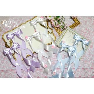 アマベル(Amavel)のLOTUS ribbon ツインテリボン Fサイズ(バレッタ/ヘアクリップ)