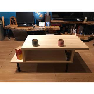 〓栄町工房〓 集成材テーブル 固定脚式D型 / 送料込み 脚はご自身でお取付け(ローテーブル)
