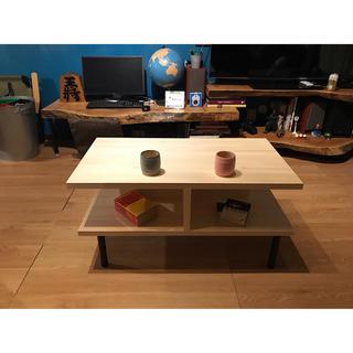 〓栄町工房〓 集成材テーブル 固定脚式E型 / 送料込み 脚はご自身でお取付け(ローテーブル)