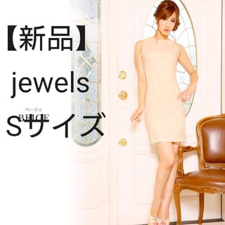 ジュエルズ(JEWELS)の【新品】jewels ジュエルズ タイト ミニドレス(Sサイズ)(ミニドレス)