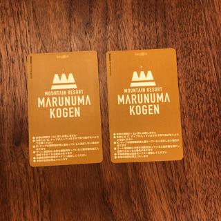 2枚セット 丸沼高原スキー場 リフト券(スキー場)