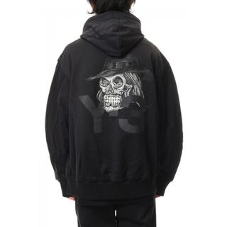 ワイスリー(Y-3)のDZ4564 Y-3 Yohji Skull Hoodie スカルパーカー(パーカー)