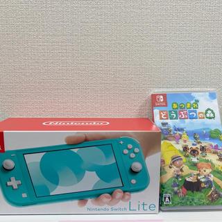 ニンテンドースイッチ(Nintendo Switch)のNintendo Switch Lite 本体 あつまれ どうぶつの森ソフト(家庭用ゲーム機本体)
