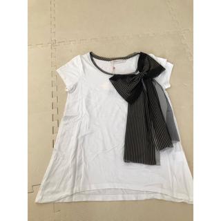 トランテアンソンドゥモード(31 Sons de mode)のリボン付きTシャツ(Tシャツ(半袖/袖なし))