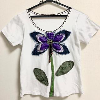 エルロデオ(EL RODEO)のエルロデオ  Tシャツ 花(Tシャツ/カットソー(半袖/袖なし))