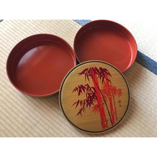 クタニセイヨウ(九谷青窯)の【美品】レトロな竹模様の食器入れ2段重ね(食器)