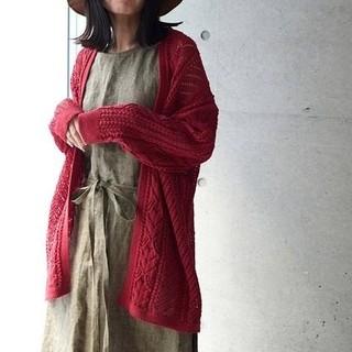 アトリエドゥサボン(l'atelier du savon)のSHION レース柄カーディガン(¥7990より値下げ)(カーディガン)