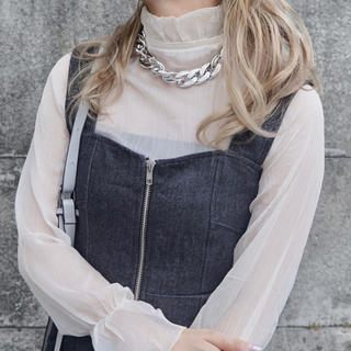 エーディージー(A.D.G)のA.D.G Big Silver Chain Necklace(ネックレス)