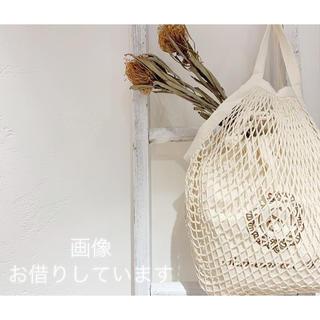 サマンサモスモス(SM2)の新品 サマンサモスモス オリジナル巾着付メッシュBag ノベルティー(かごバッグ/ストローバッグ)