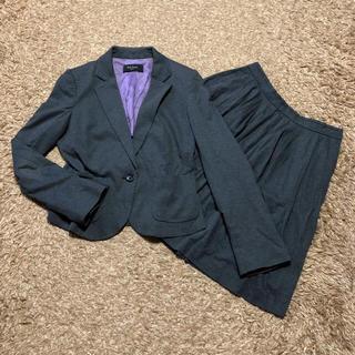 ポールスミス(Paul Smith)の値下げ交渉OK ポールスミス シングル スカートスーツ S〜M ダークグレー(スーツ)