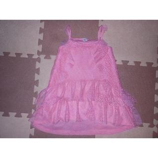 ザラ(ZARA)の新品未着用★390ZARAのピンクドレス 98★険:メゾピアノ・アースマジック(ドレス/フォーマル)